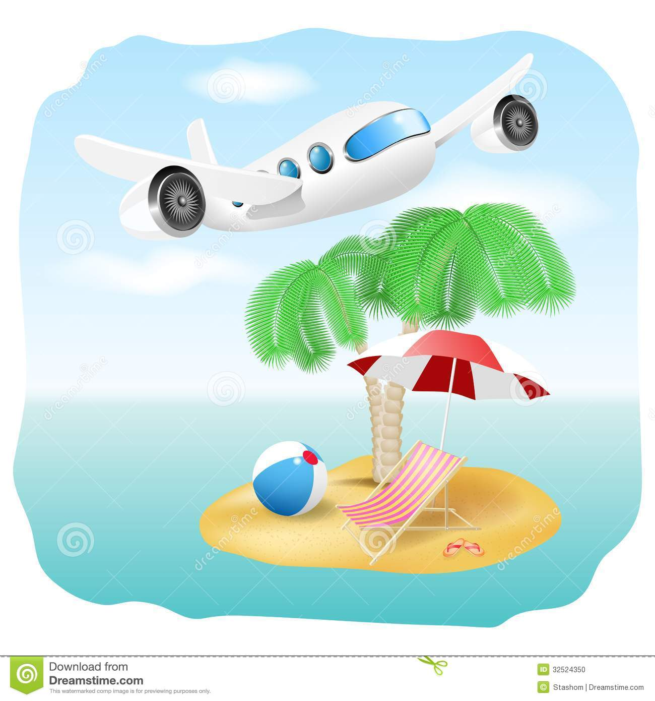 Vector Vacation Illustration Stock Photo - Image: 32524350