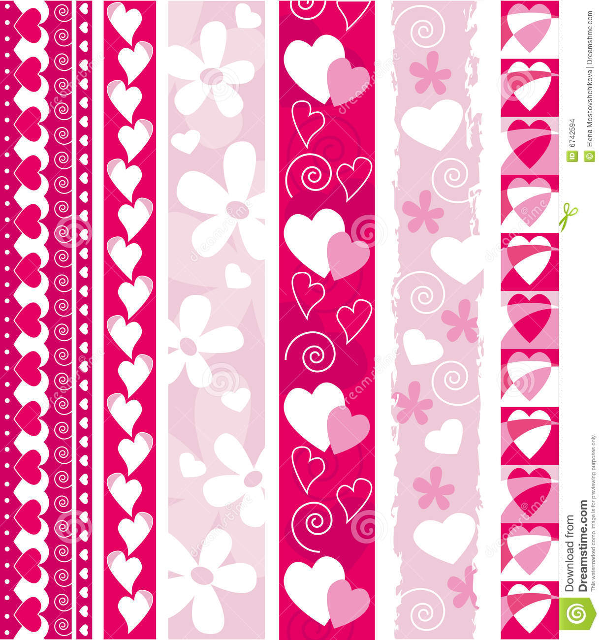 Valentine Border Vector vector valentine border stock images - image ...