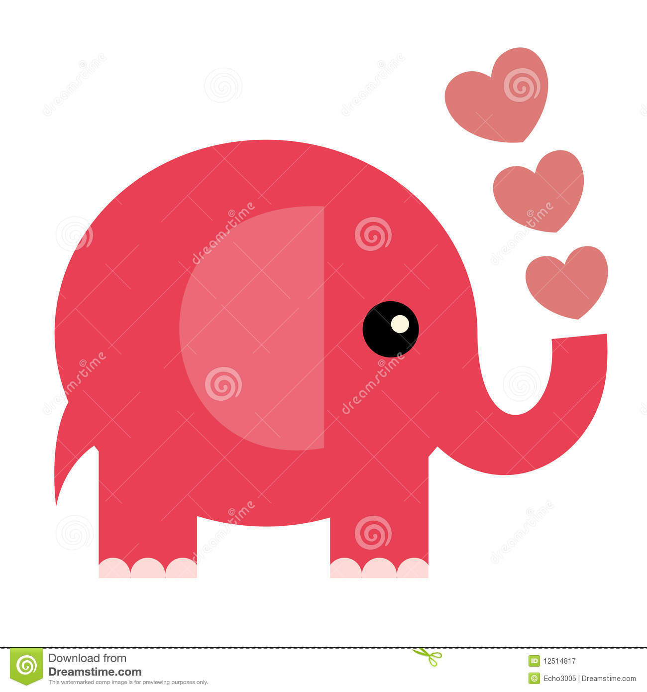 Vector Valentine Cardelephant Vector Image 12514817 – Elephant Valentines Card