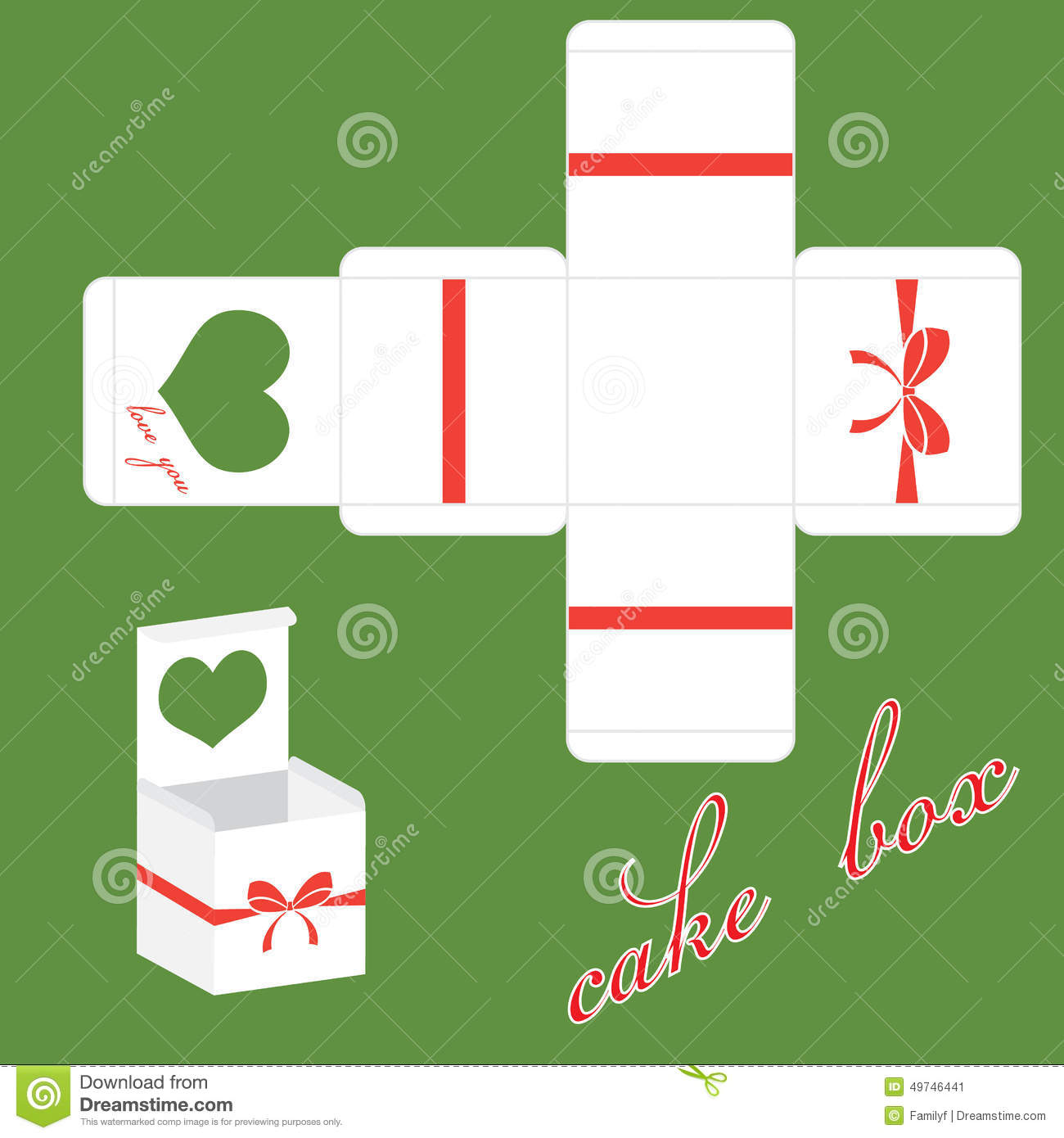 wedding cake box design vector vector valentines cake box stock vector image 49746441 22061
