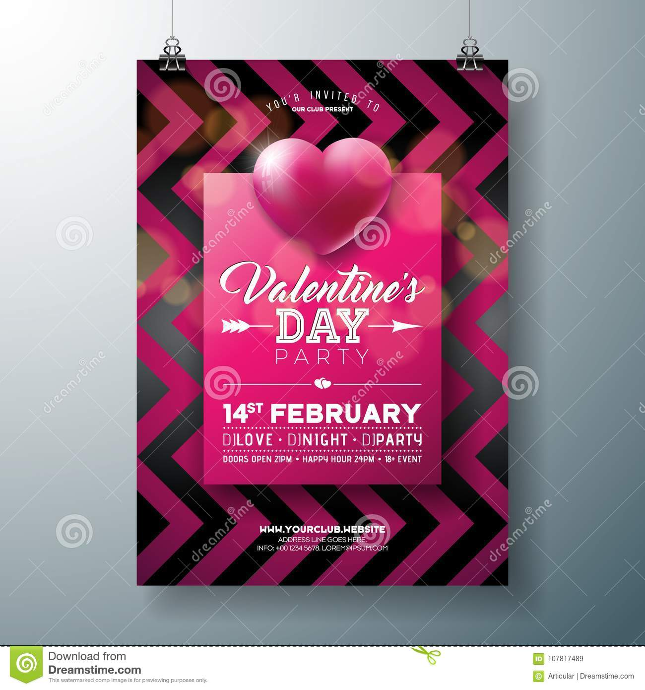 valentines-dating-card-flyer-template