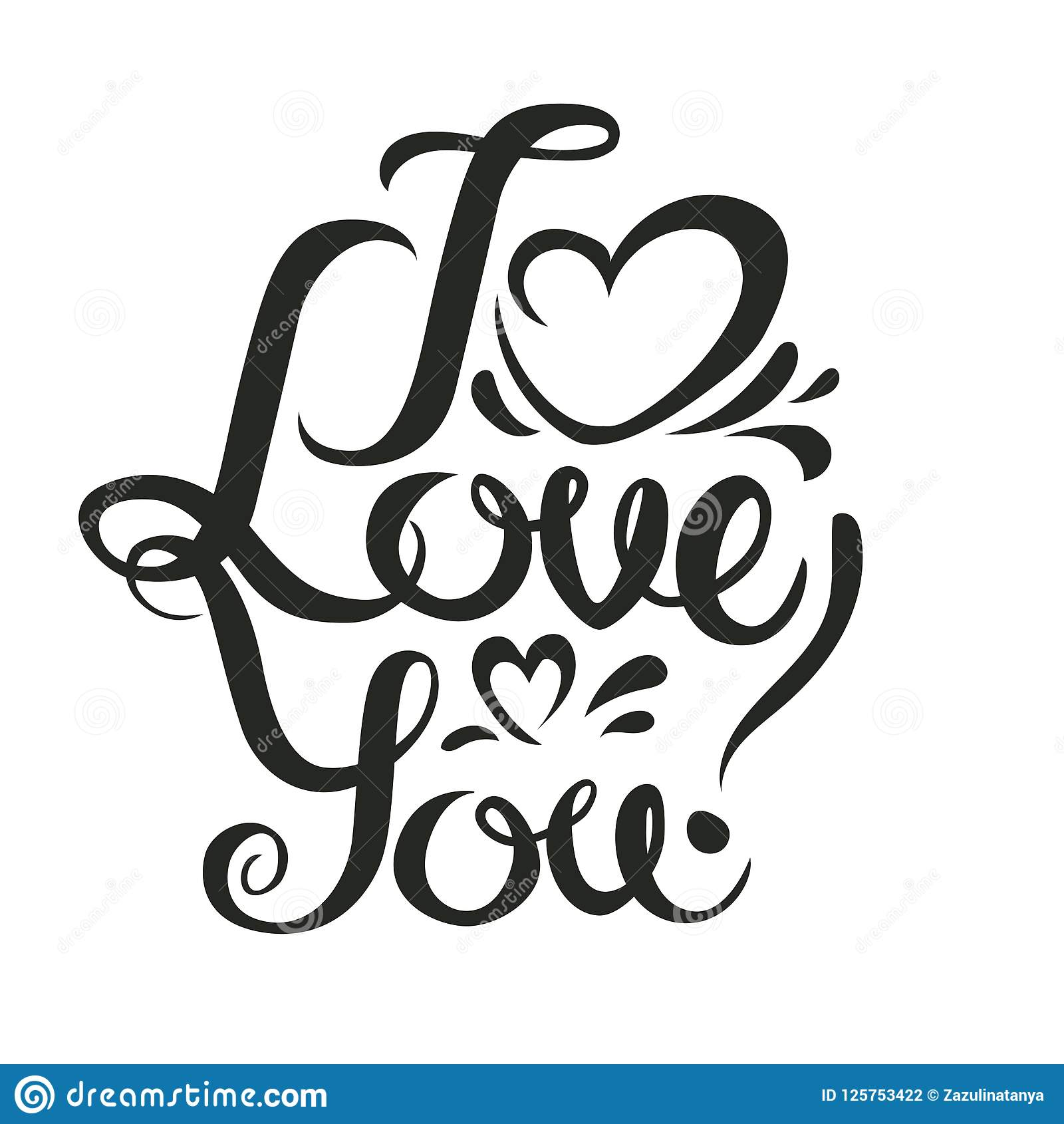 Vector Valentines Day Shine Hand Drawn Letters Black And Gold I