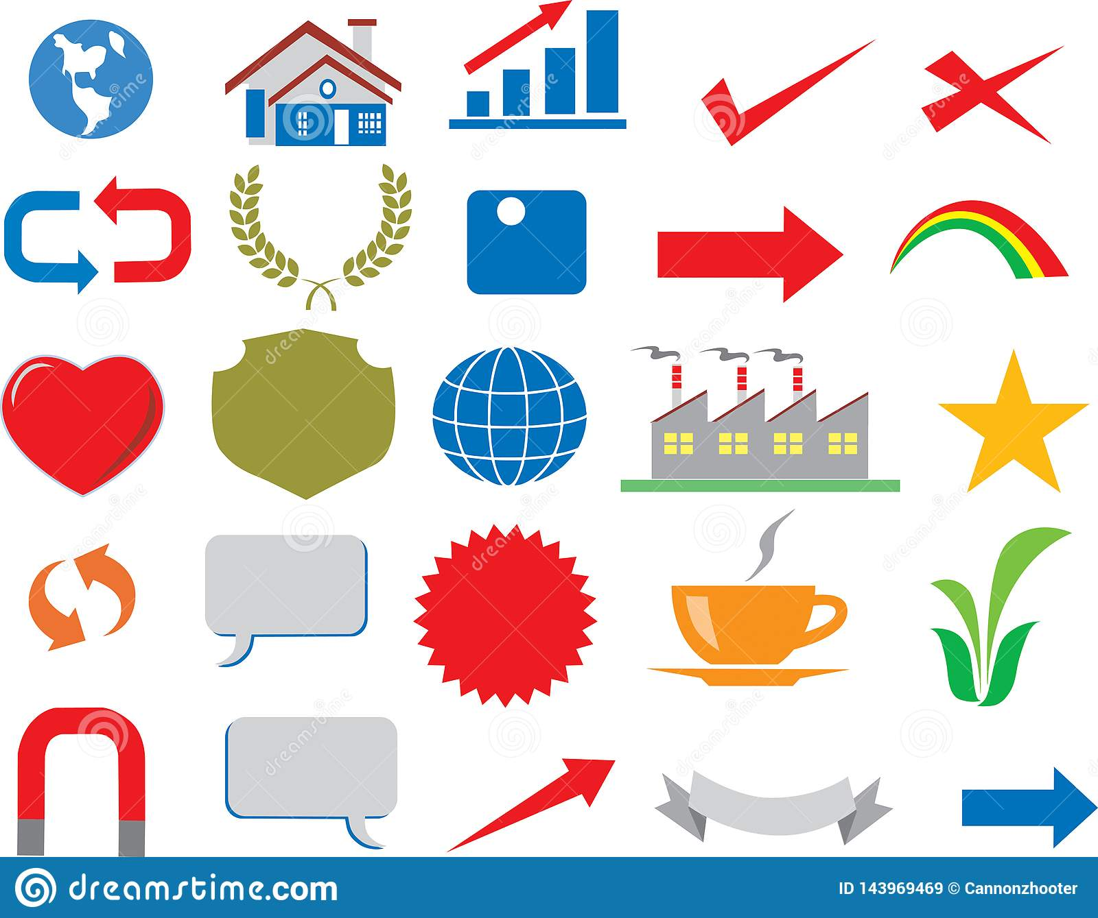 Vector - Various Business Icon Logo Infographic