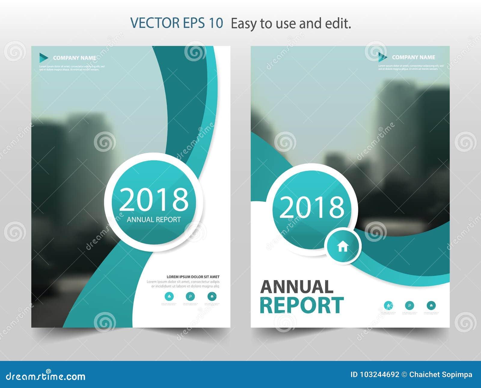 Vector Verde De La Plantilla Del Diseño Del Folleto Del Informe ...