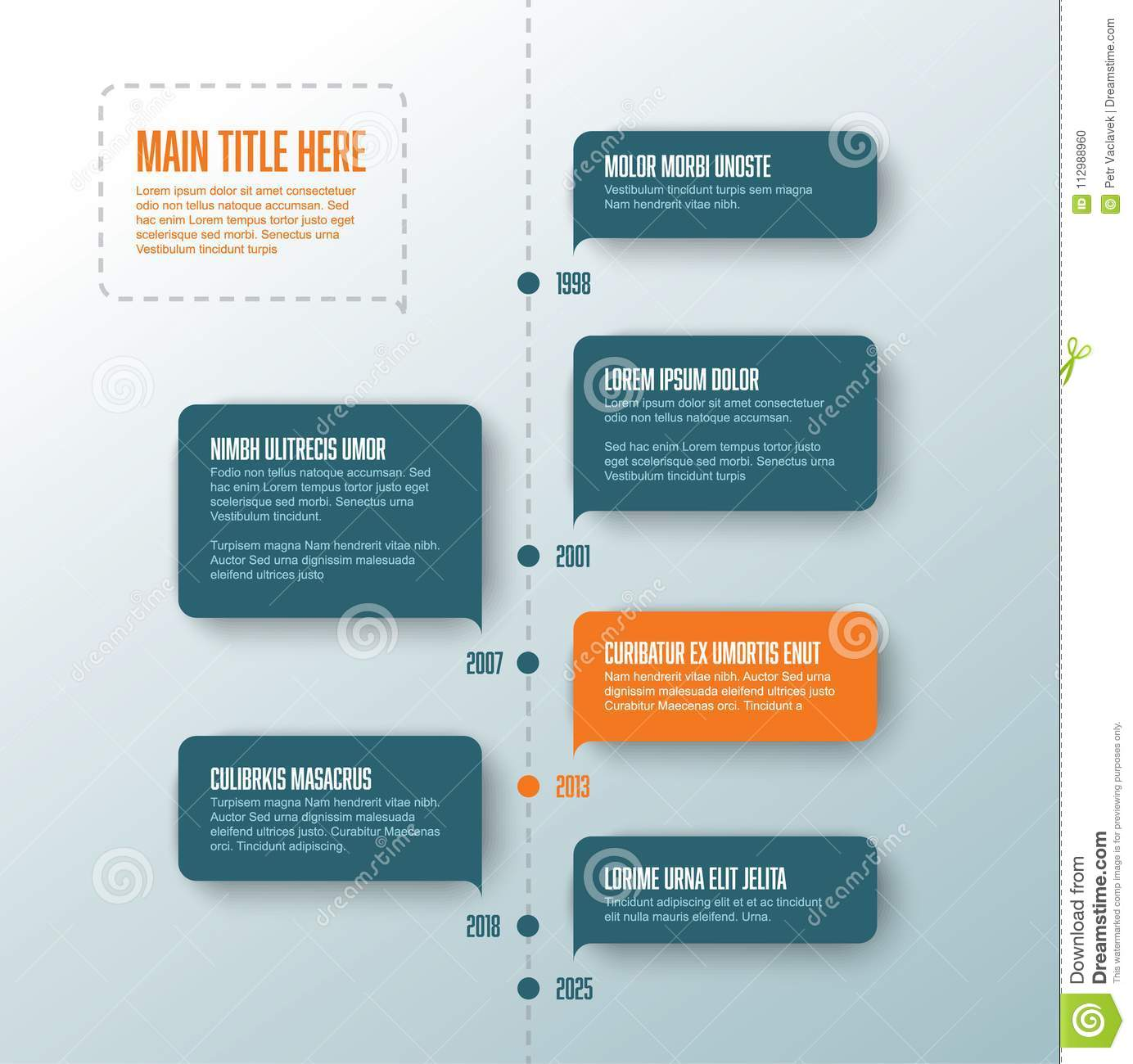 Vector vertical infographic timeline template