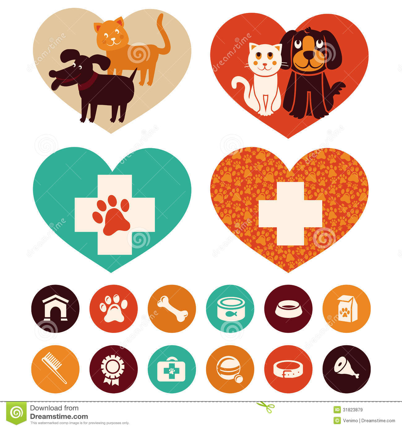 Vector Veterinary Emblems And Signs Royalty Free Stock ...