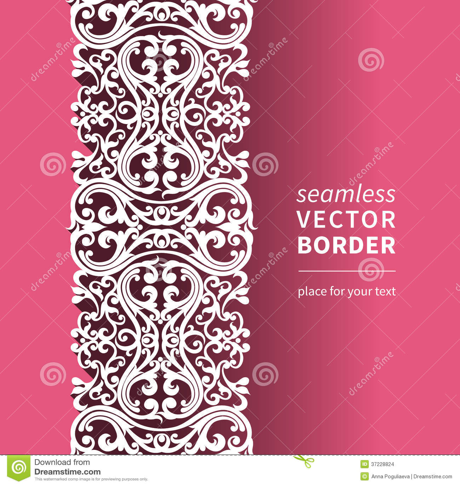 Vector Victorian Ornamental Border In Flat Design Style ...