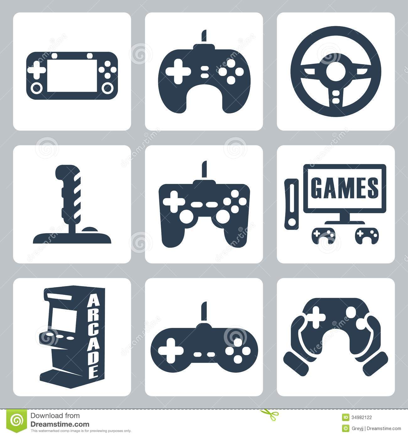 vector video games icons stock photography image 34982122