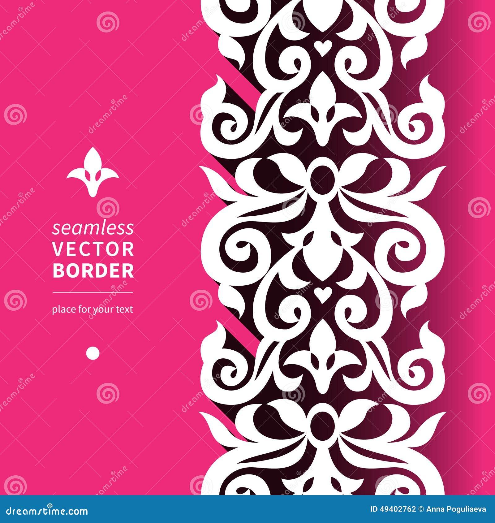 Download Vector Viktorianische Dekorative Grenze In Der Flachen Designart Vektor Abbildung - Illustration von rand, floral: 49402762