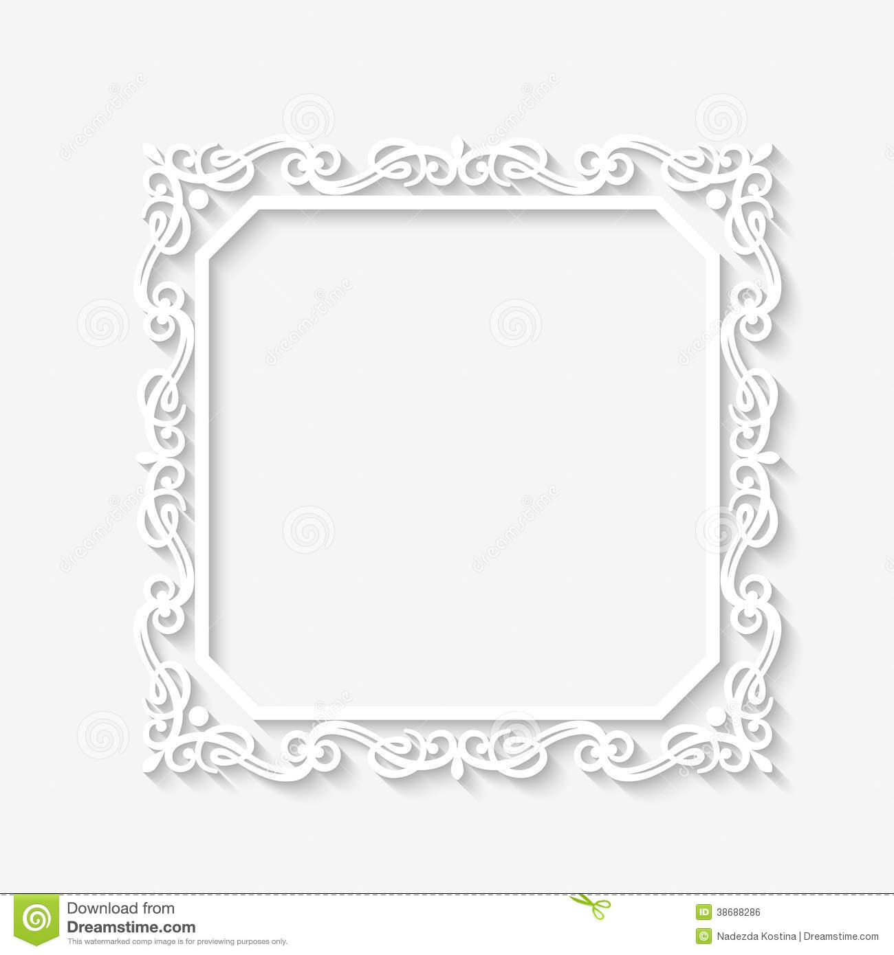 Vector Vintage Baroque White Frame Stock Vector - Illustration of ...