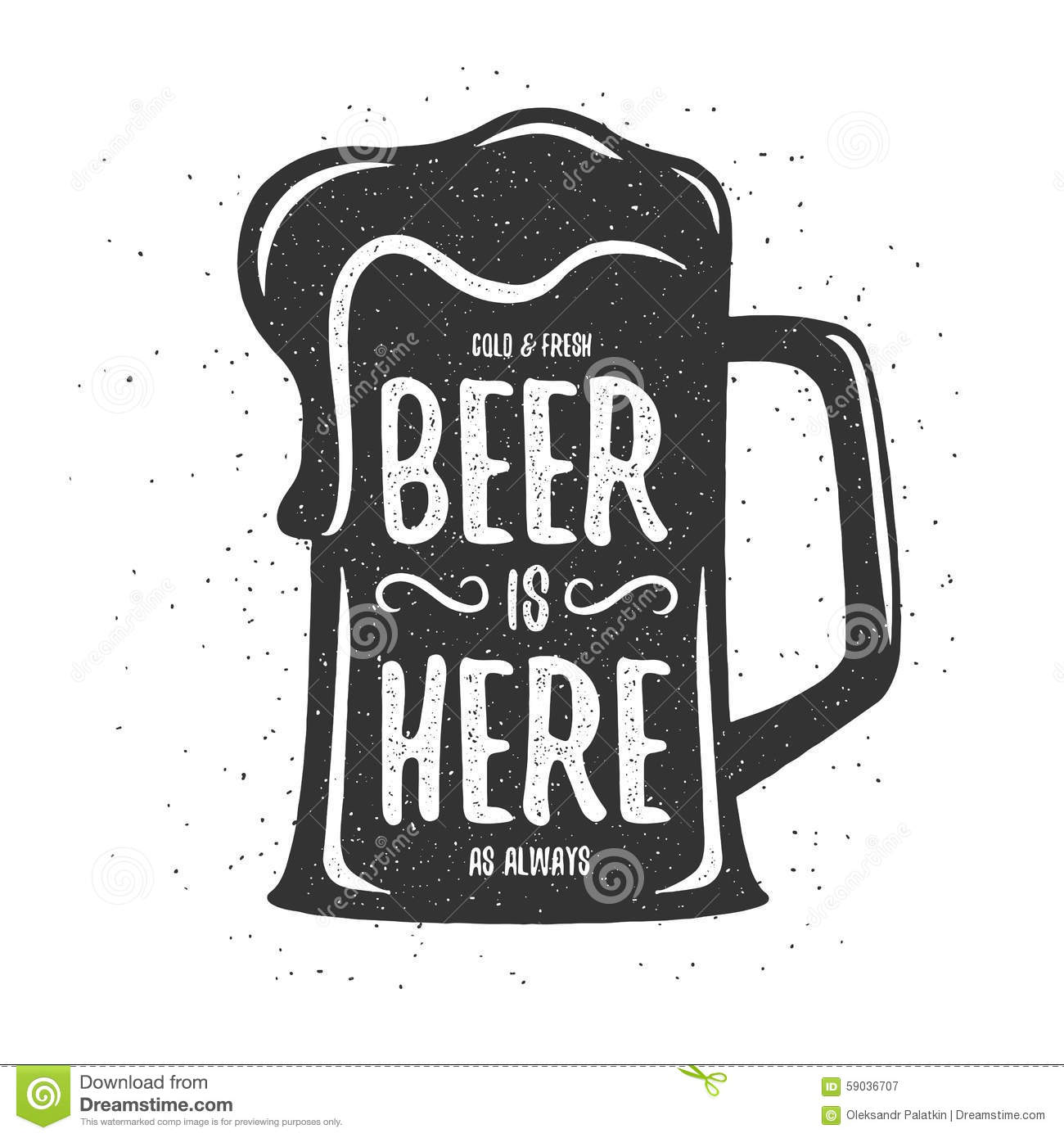 T shirt poster design - Beer Design Illustration Poster