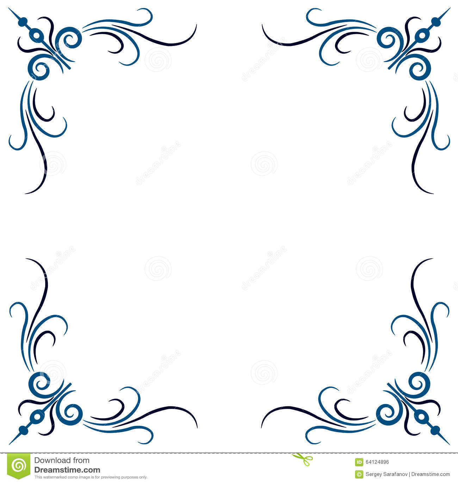 Vector Vintage Border. Stock Illustration - Image: 64124896 Vintage Border Vector