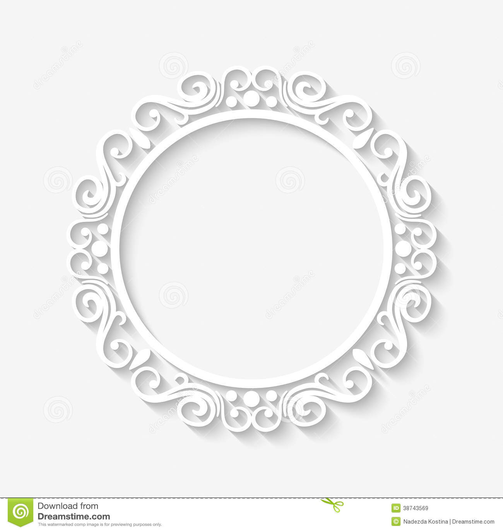 Vector Vintage Border White Frame Royalty Free Stock