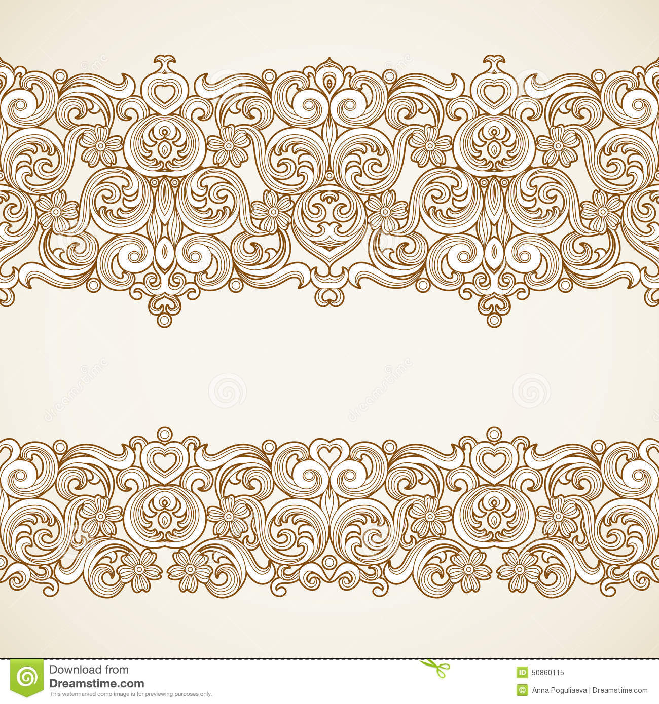 Vector Vintage Borders In Victorian Style Stock Illustration