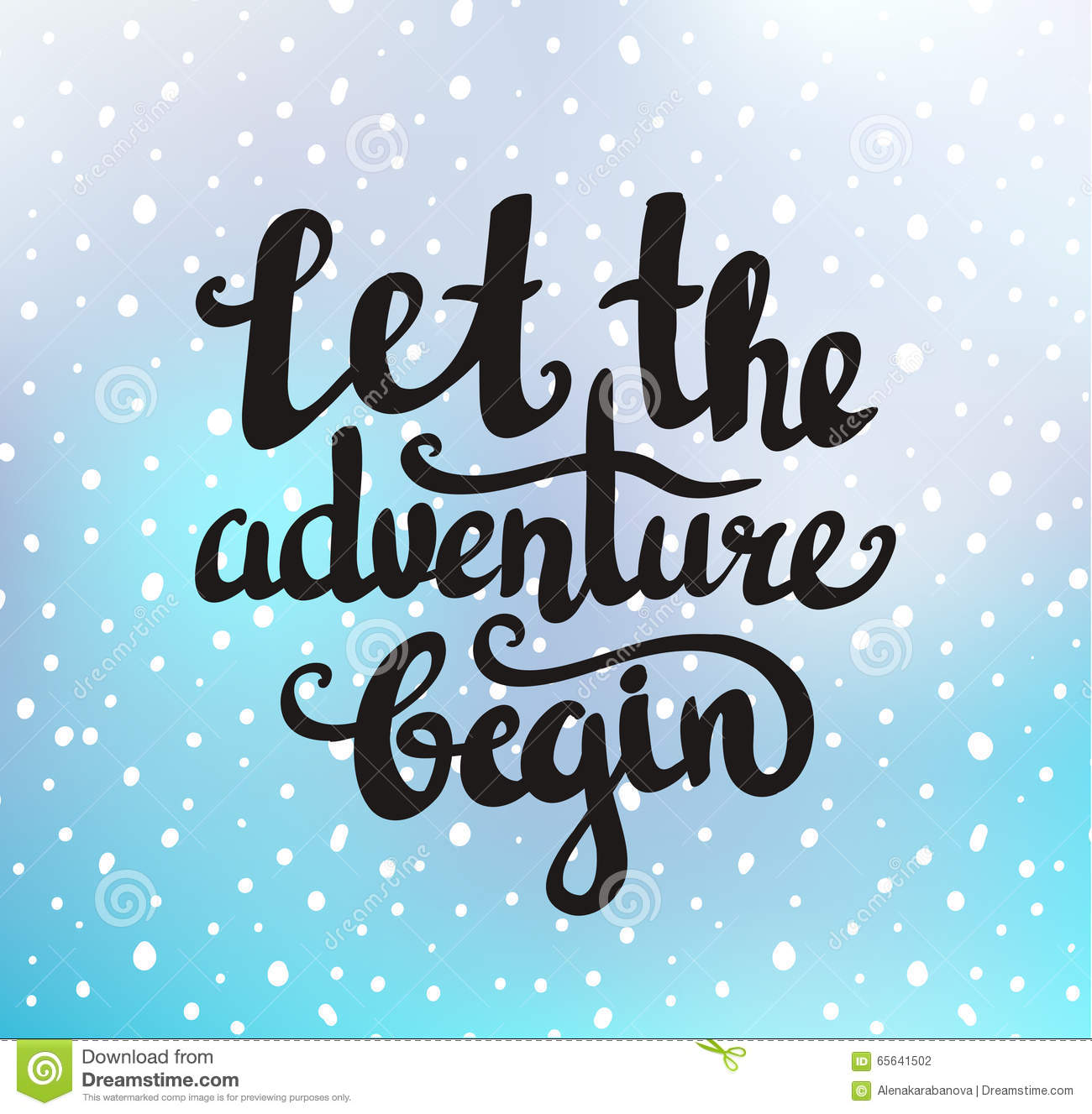 Vector vintage card with sunburst and inspirational phrase Let the adventure begin
