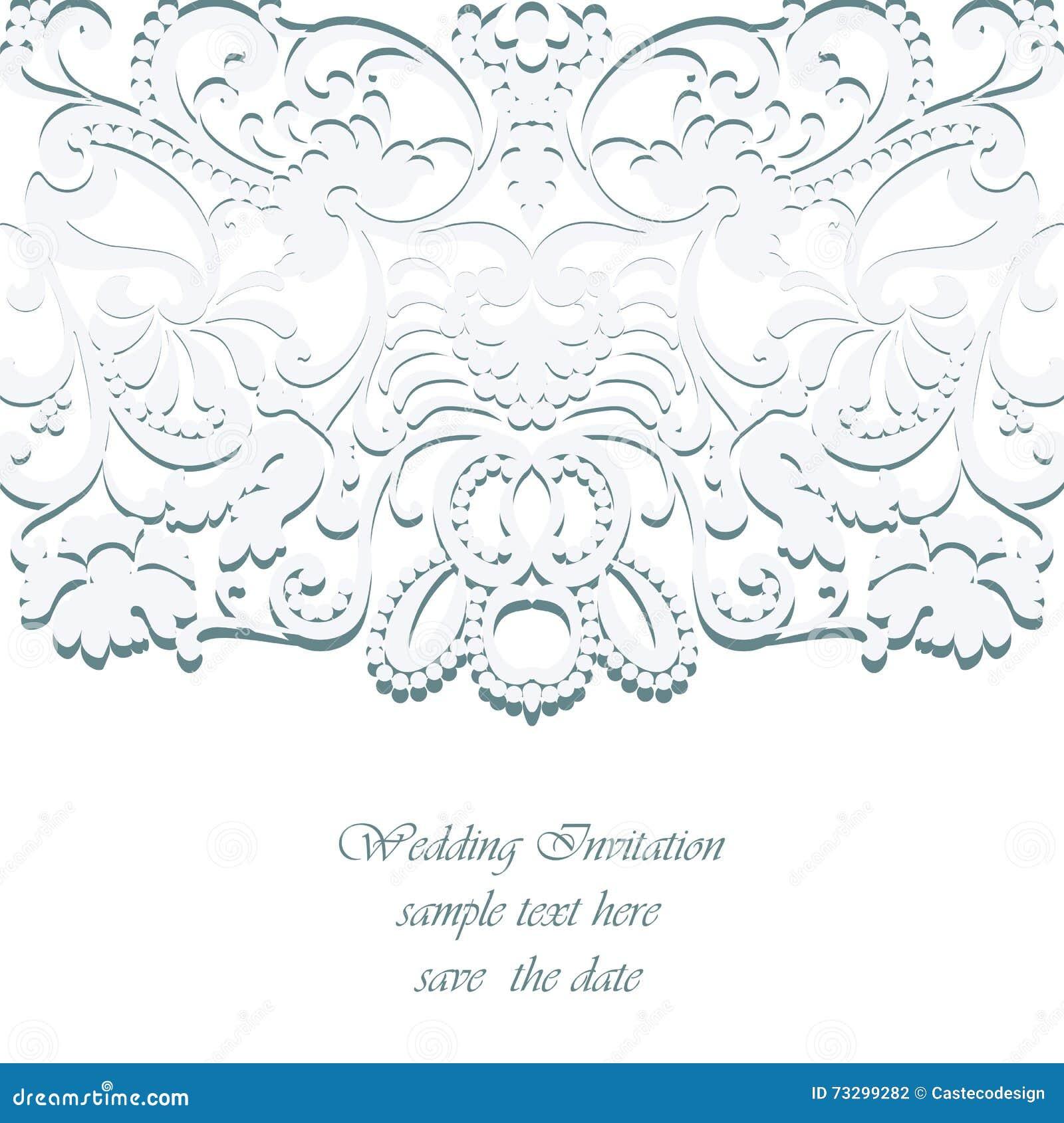 Vector Vintage Classic Wedding Invitation Card Stock Vector Illustration Of Invitation Baroque 73299282