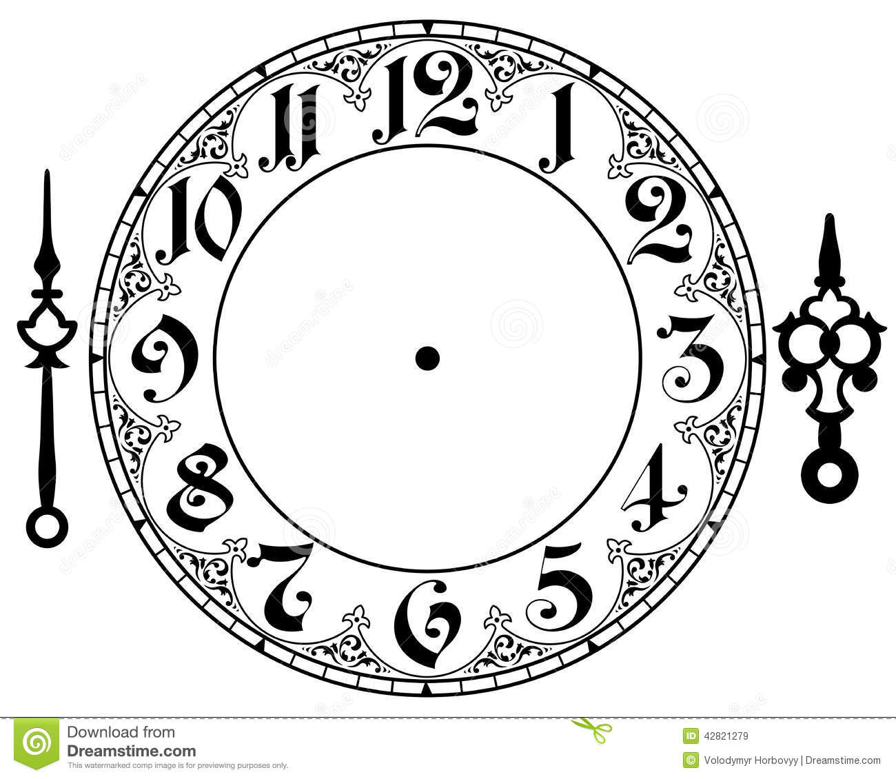 Vintage Clock Face stock vector. Illustration of frame - 25576096