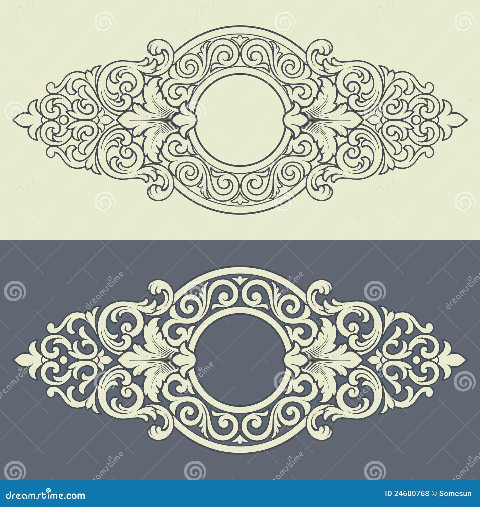 Vector vintage decorative frame pattern design
