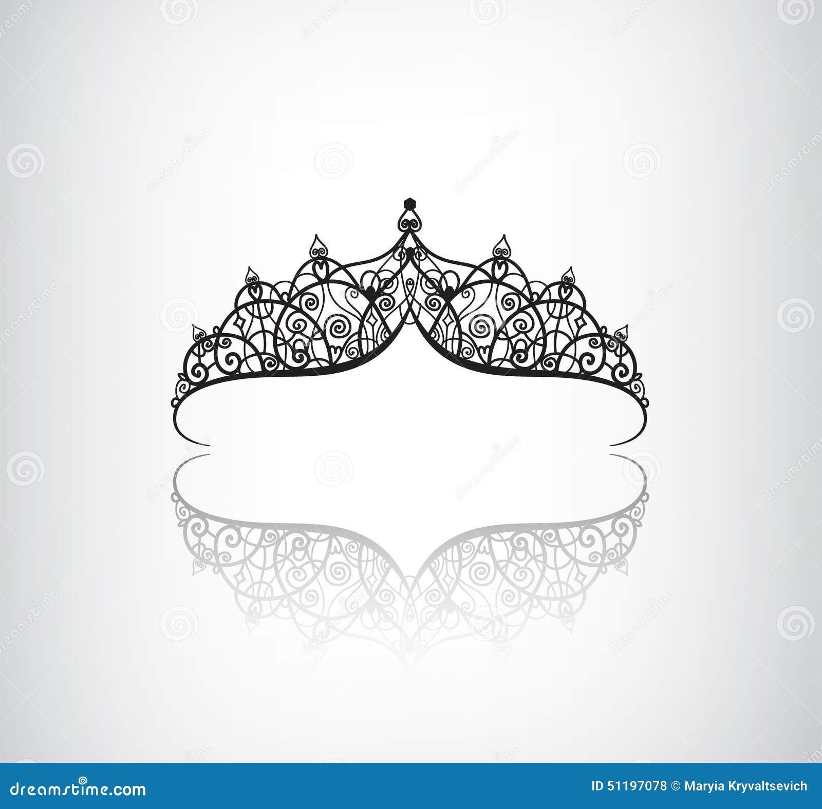 elegant vector crown or tiara cartoon vector