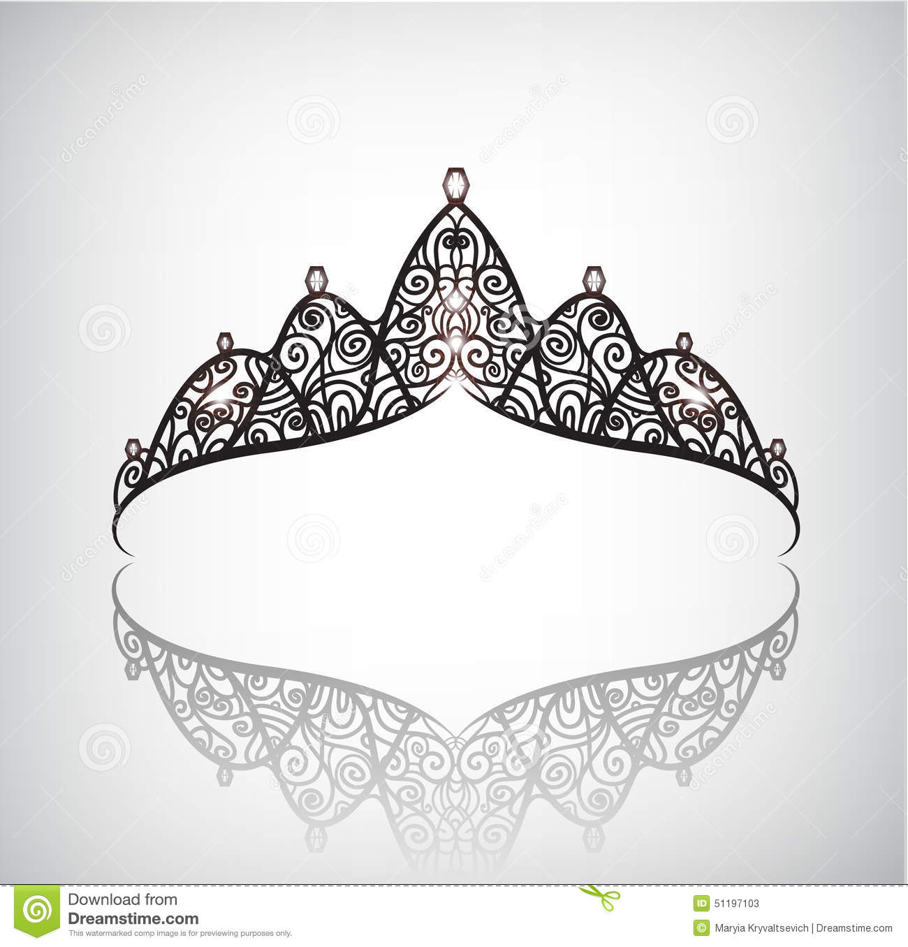 Elegant Vector Crown Or Tiara Cartoon Vector
