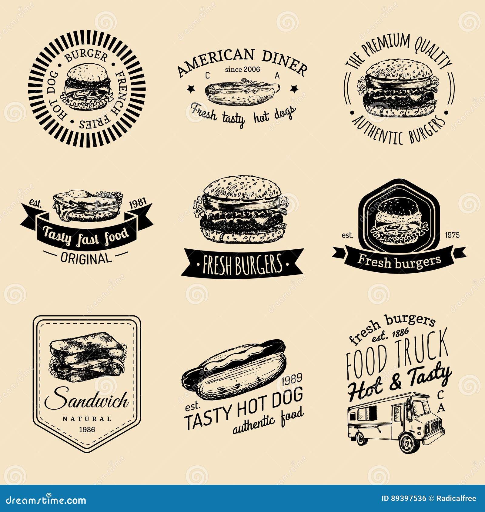 Restaurant logo cartoon vector cartoondealer