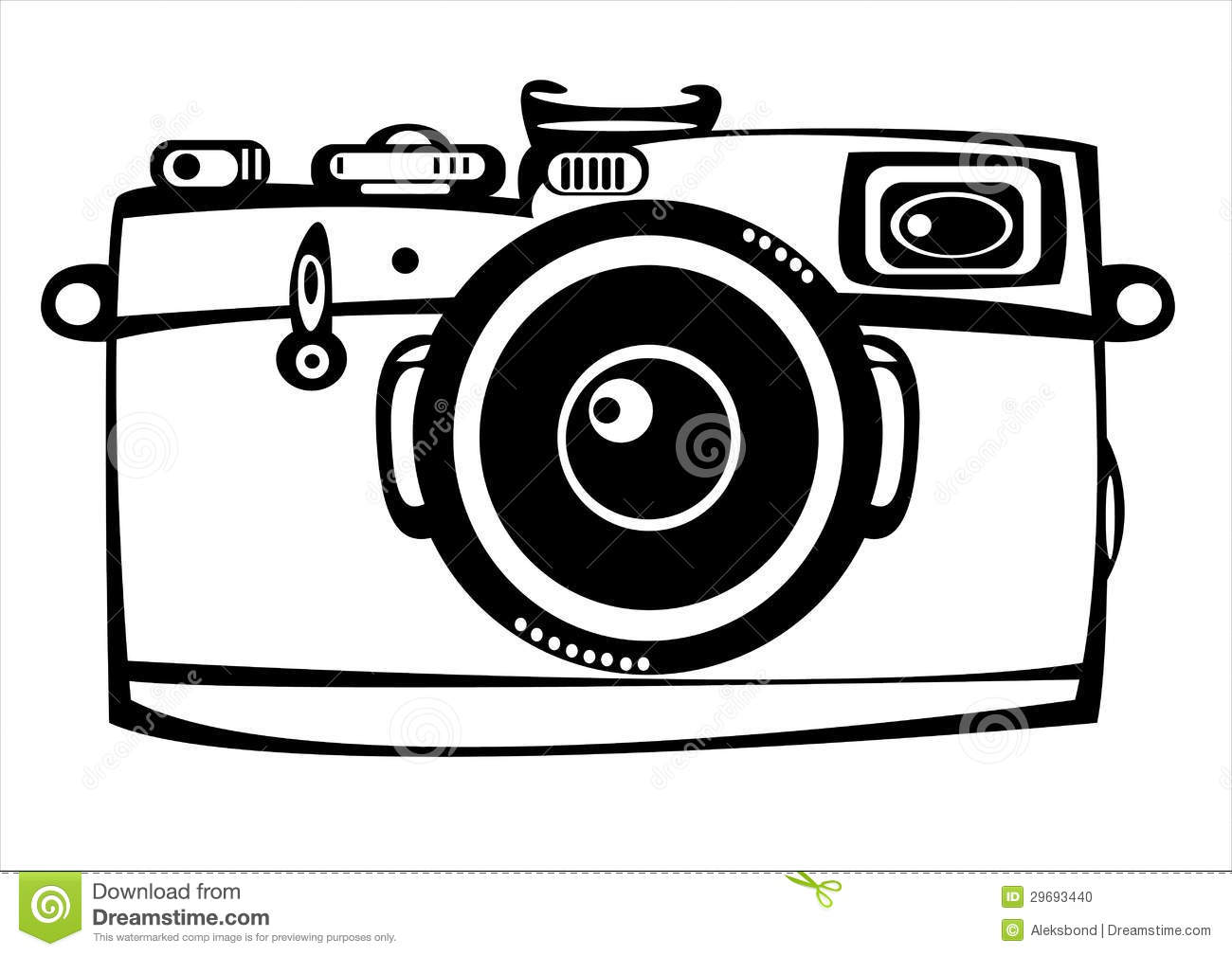 Excepcional Vector Vintage Film Camera Isolated On White Stock Vector  RV96