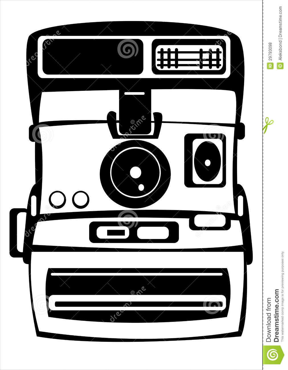 Vector Vintage Film Photo Camera Isolated On White