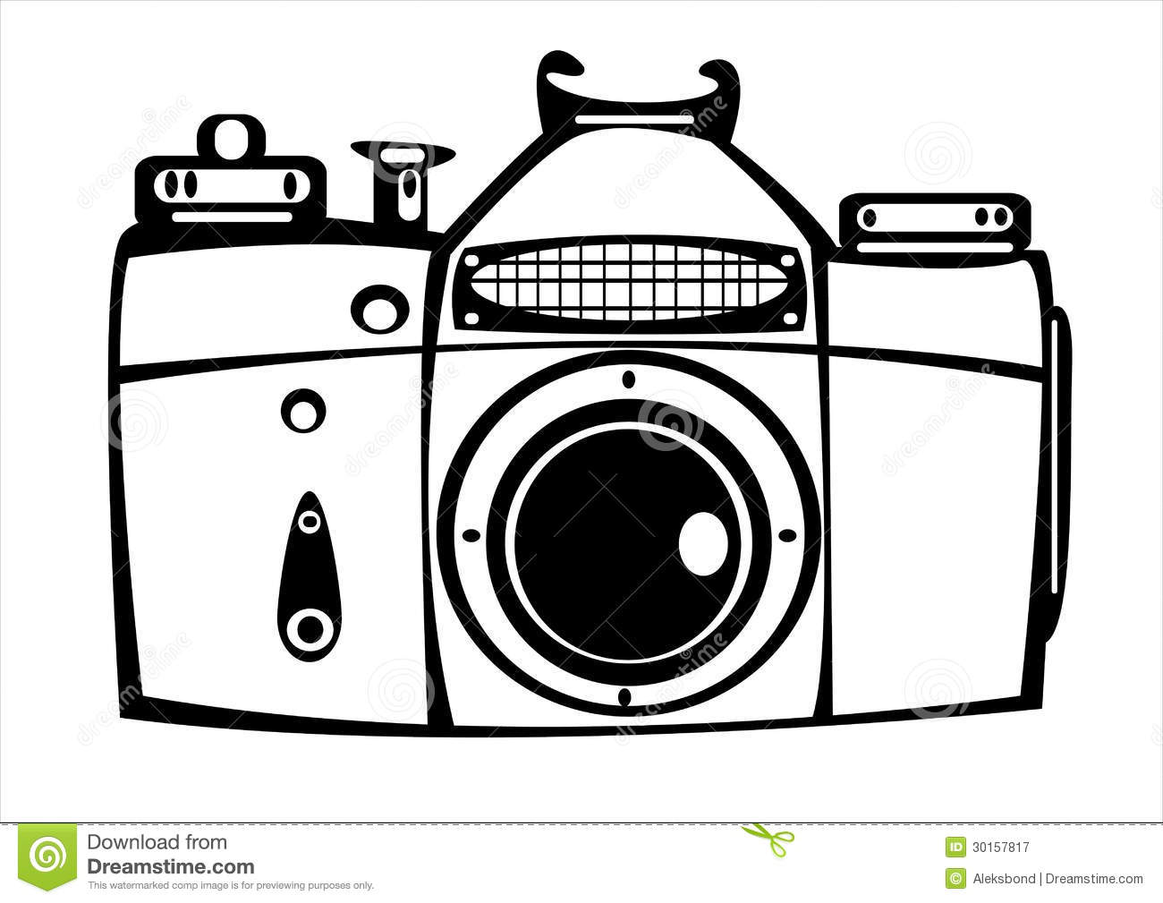 Camera Vintage Vector Free : Vector vintage film photo camera isolated on white stock vector