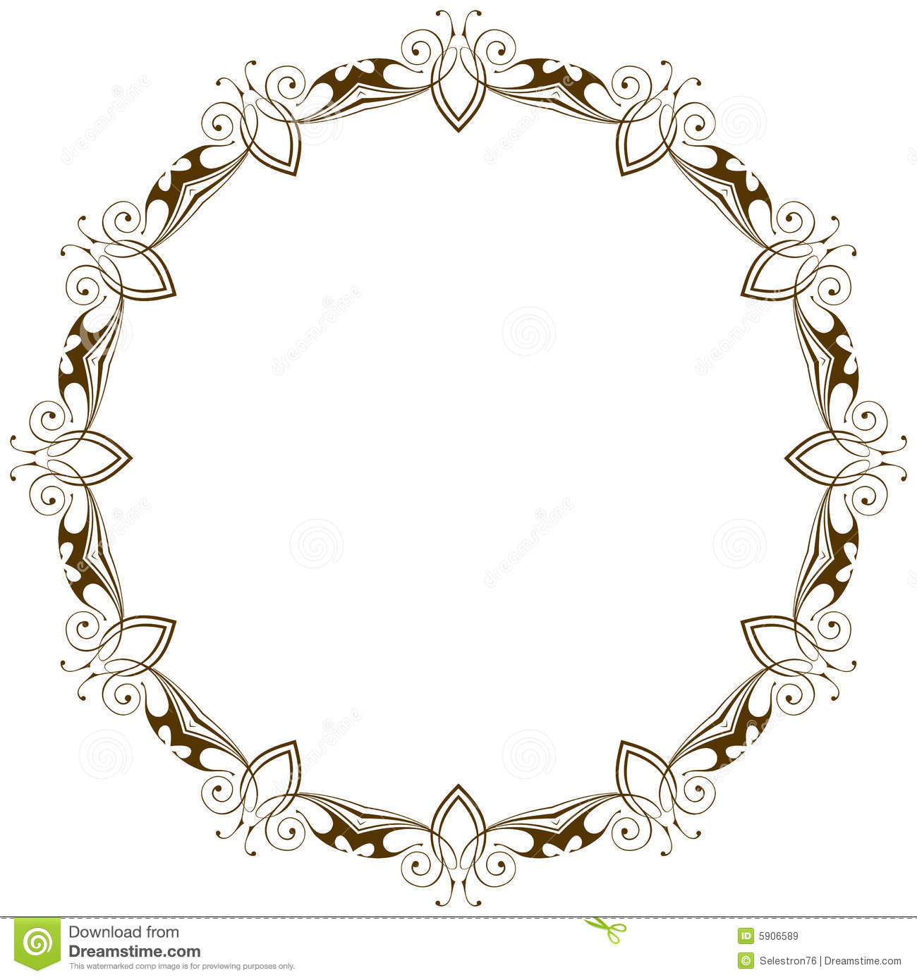 Vector Vintage Floral Frame Royalty Free Stock Images - Image: 5906589