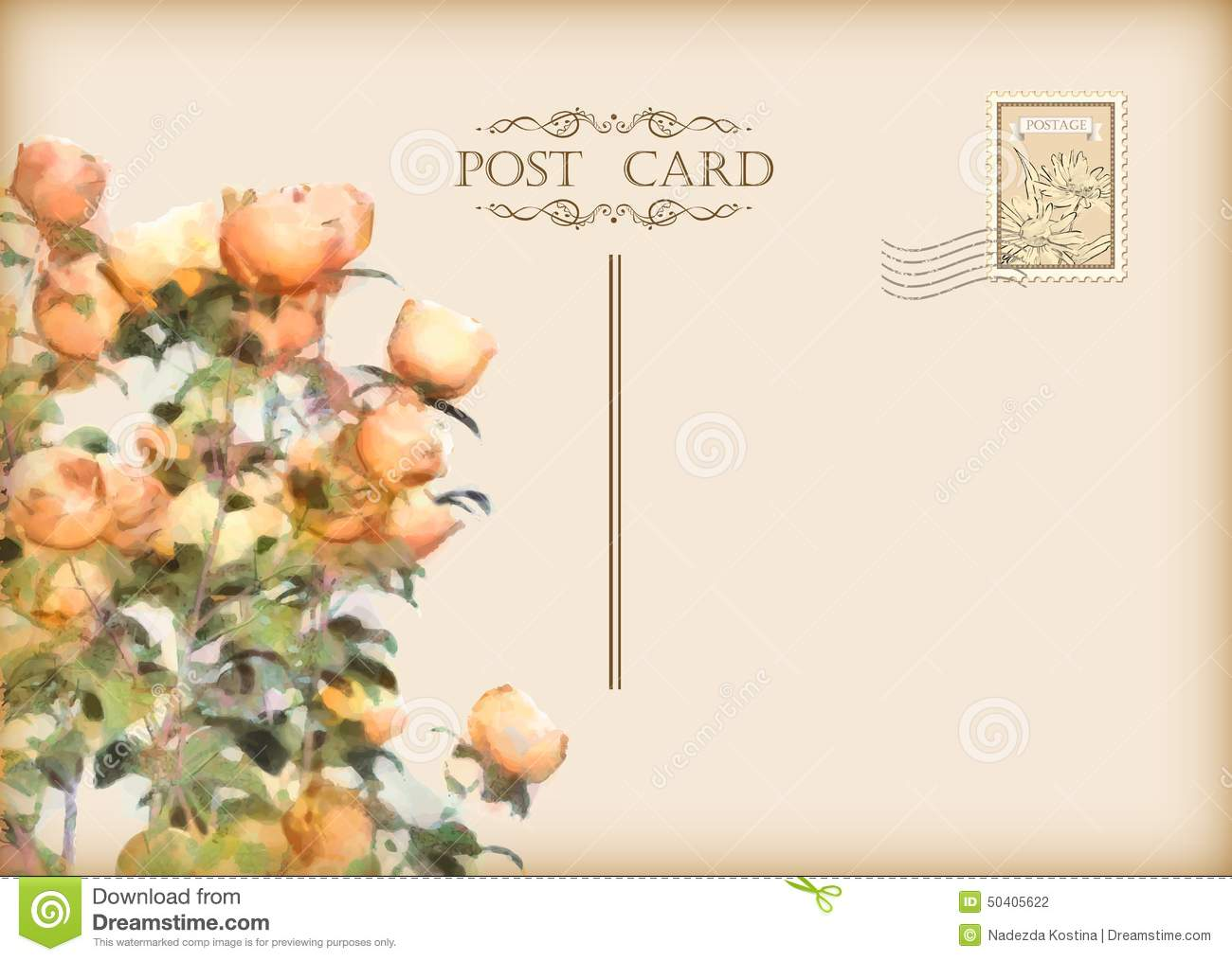 Vintage Postcard Template Free Download