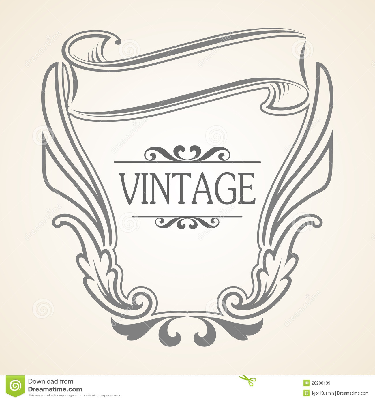 Vector Vintage frame stock vector. Illustration of flower - 28200139