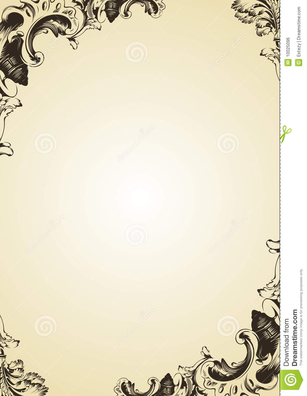Vector Vintage Frame Cover Royalty Free Stock Image Image 10025096