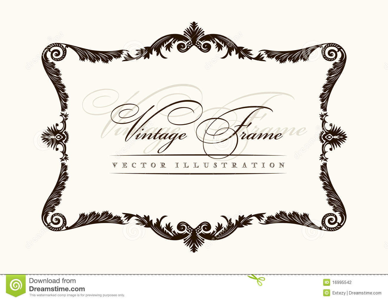 Vector Vintage Frame Decor Ornament Stock Photography
