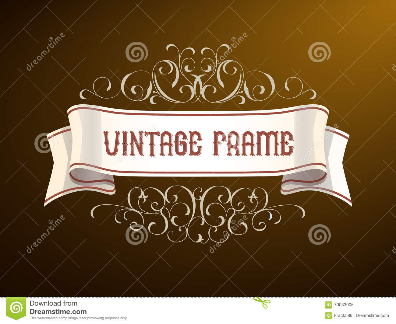 Vector Vintage Frame With Hand Drawing Elements Title