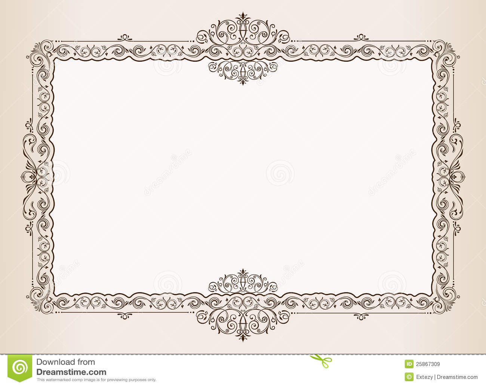 vector vintage frame ornaments royal document