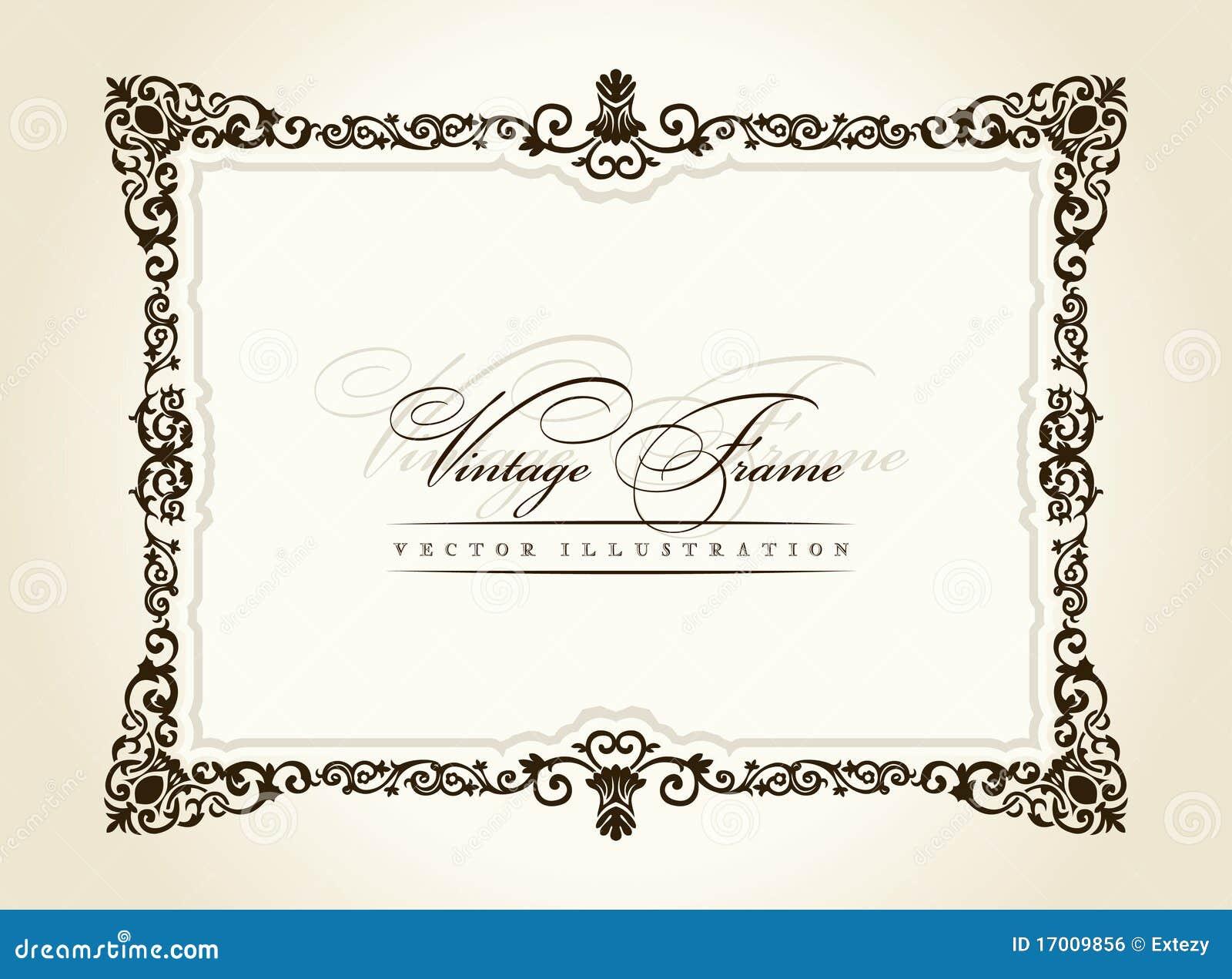 vector vintage royal retro frame ornament stock vector rh dreamstime com vintage frame vector svg vintage vector frames and borders