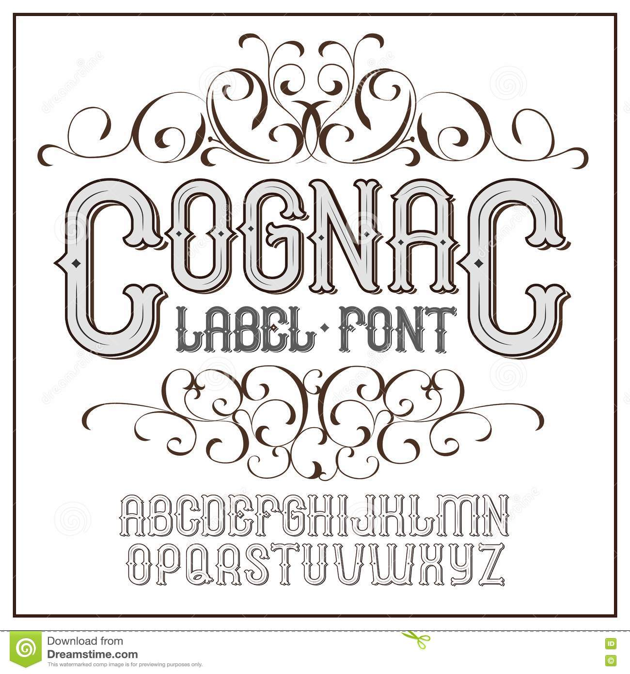 Progressive Logo Design For You Choose The Text Style To: Vector Vintage Label Font. Modern Style Cartoon Vector