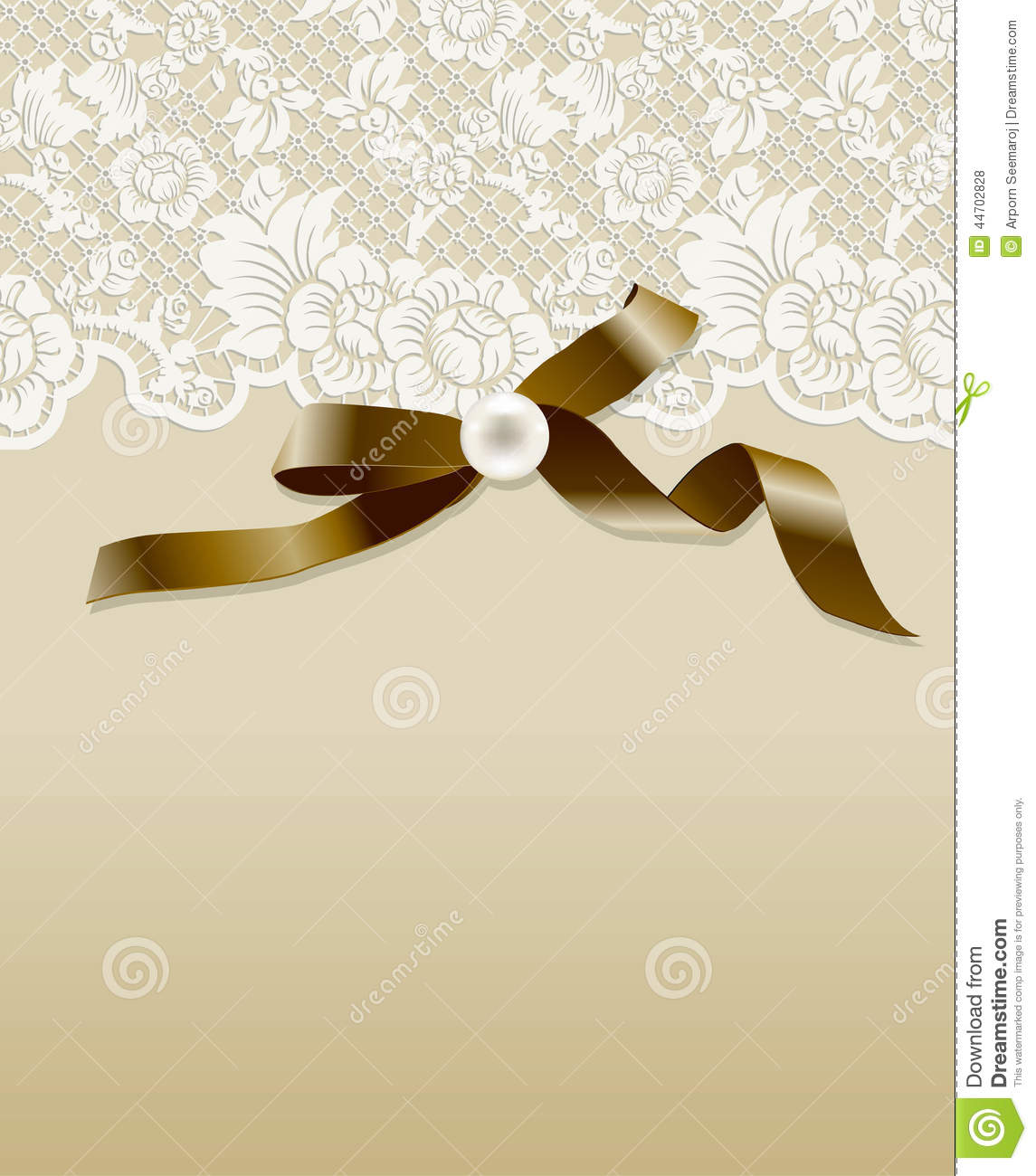 Vector Of Vintage Lace Stock Vector - Image: 44702828