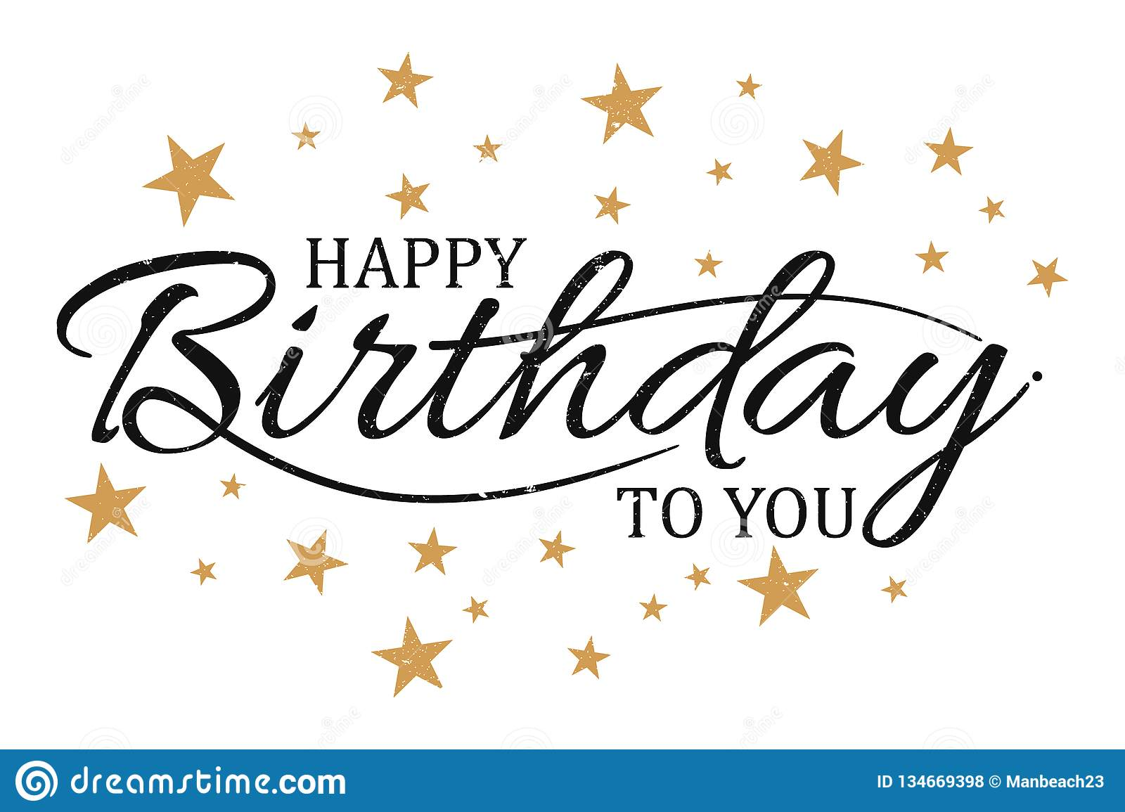 Vector Vintage Letter Happy Birthday To You Stock Vector Illustration Of Rendering Celebrate 134669398