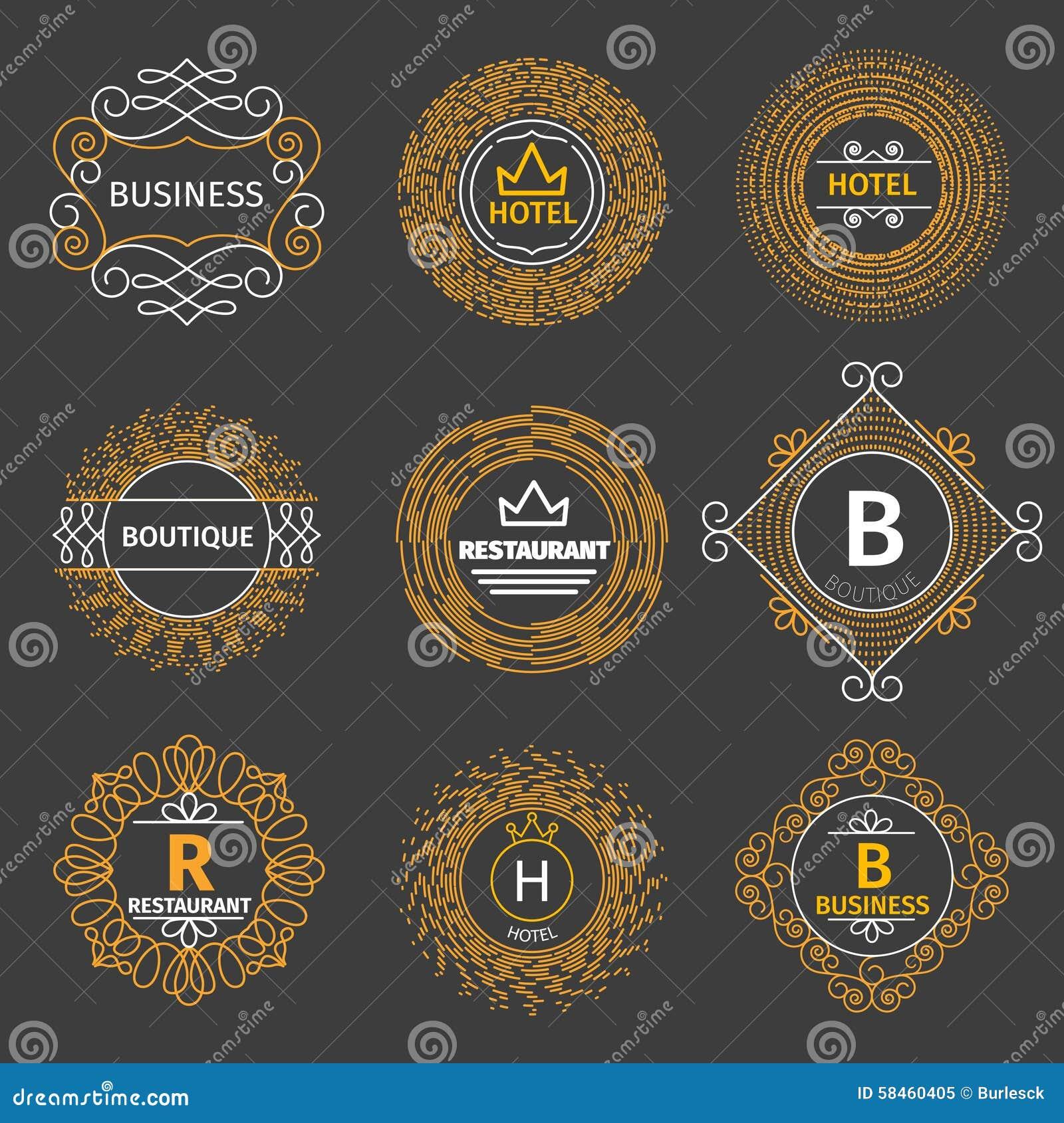 vector vintage logos for hotel  restaurant stock vector