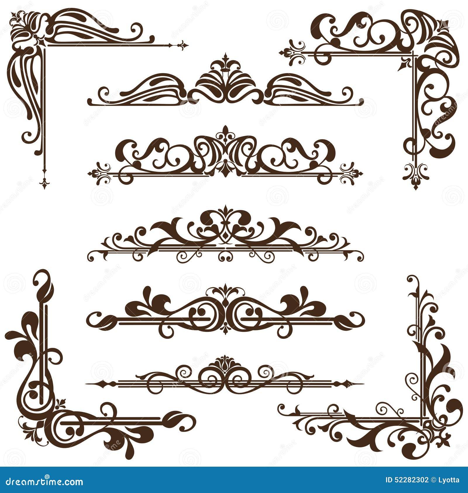 art nouveau frame corner the image kid. Black Bedroom Furniture Sets. Home Design Ideas