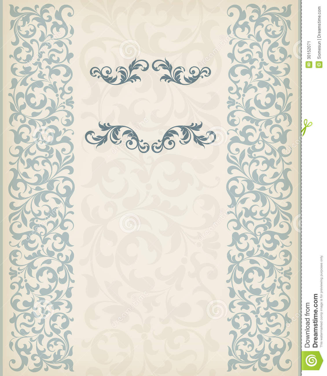 Vintage Border Frame Decorative Ornate Calligraphy Vector
