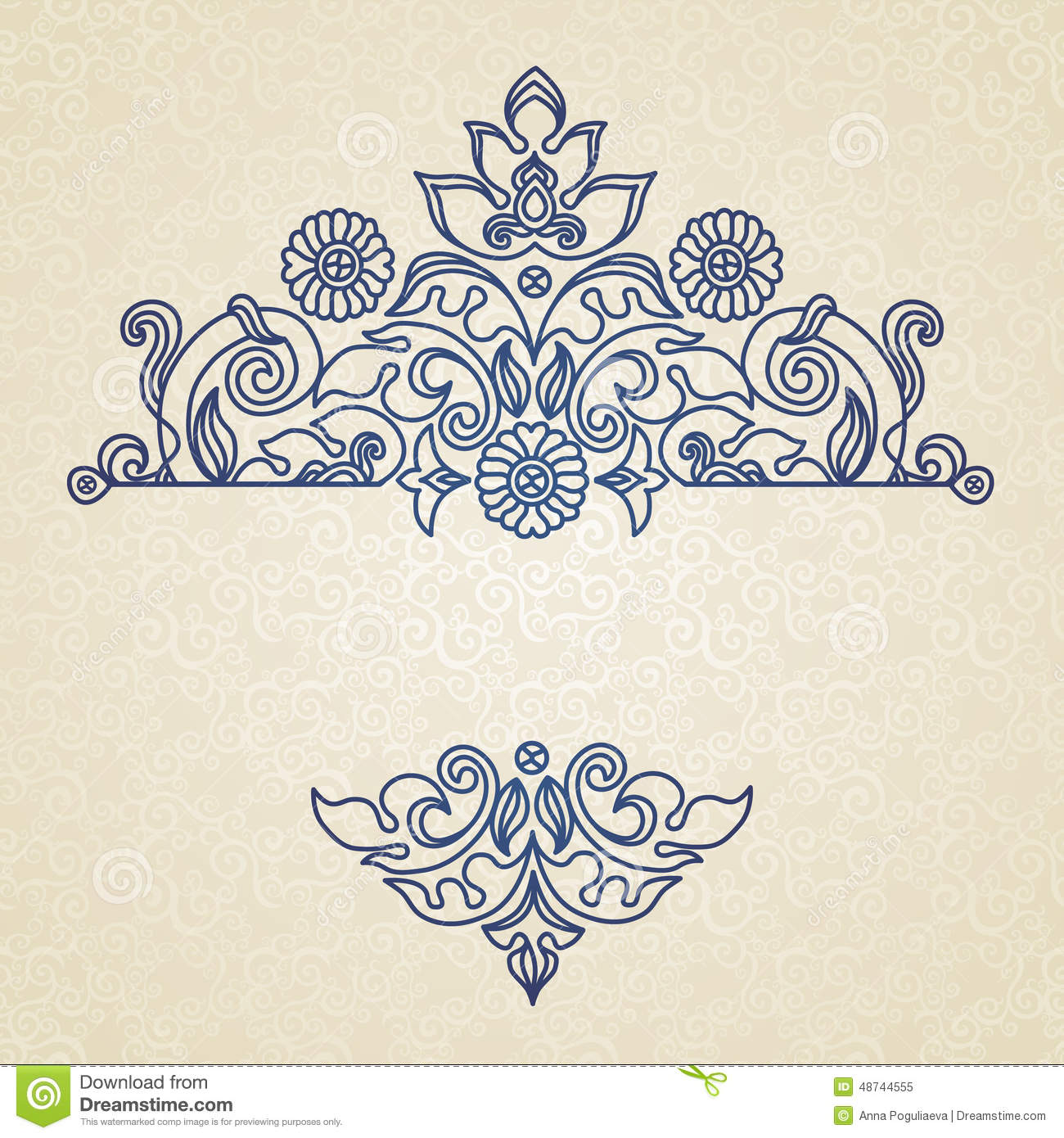 Vector Vintage Pattern In Eastern Style Stock Vector