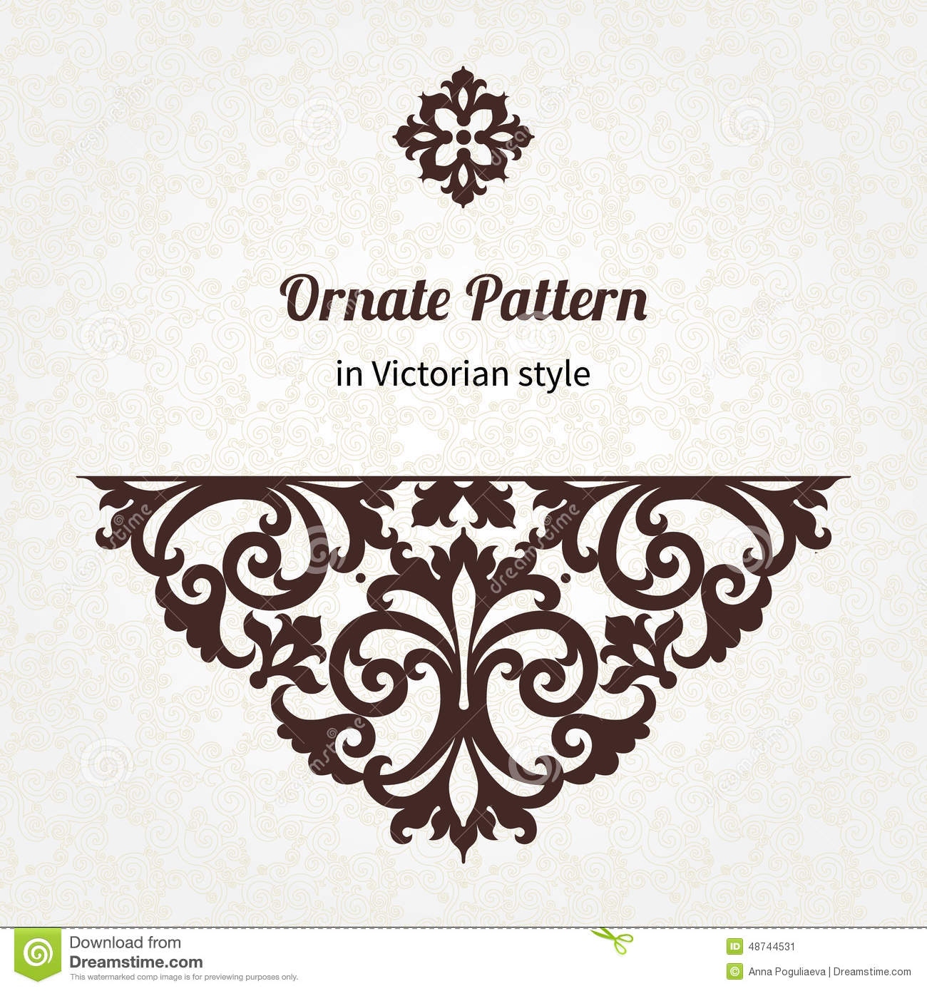 Vector Vintage Pattern In Victorian Style. Stock Vector ...