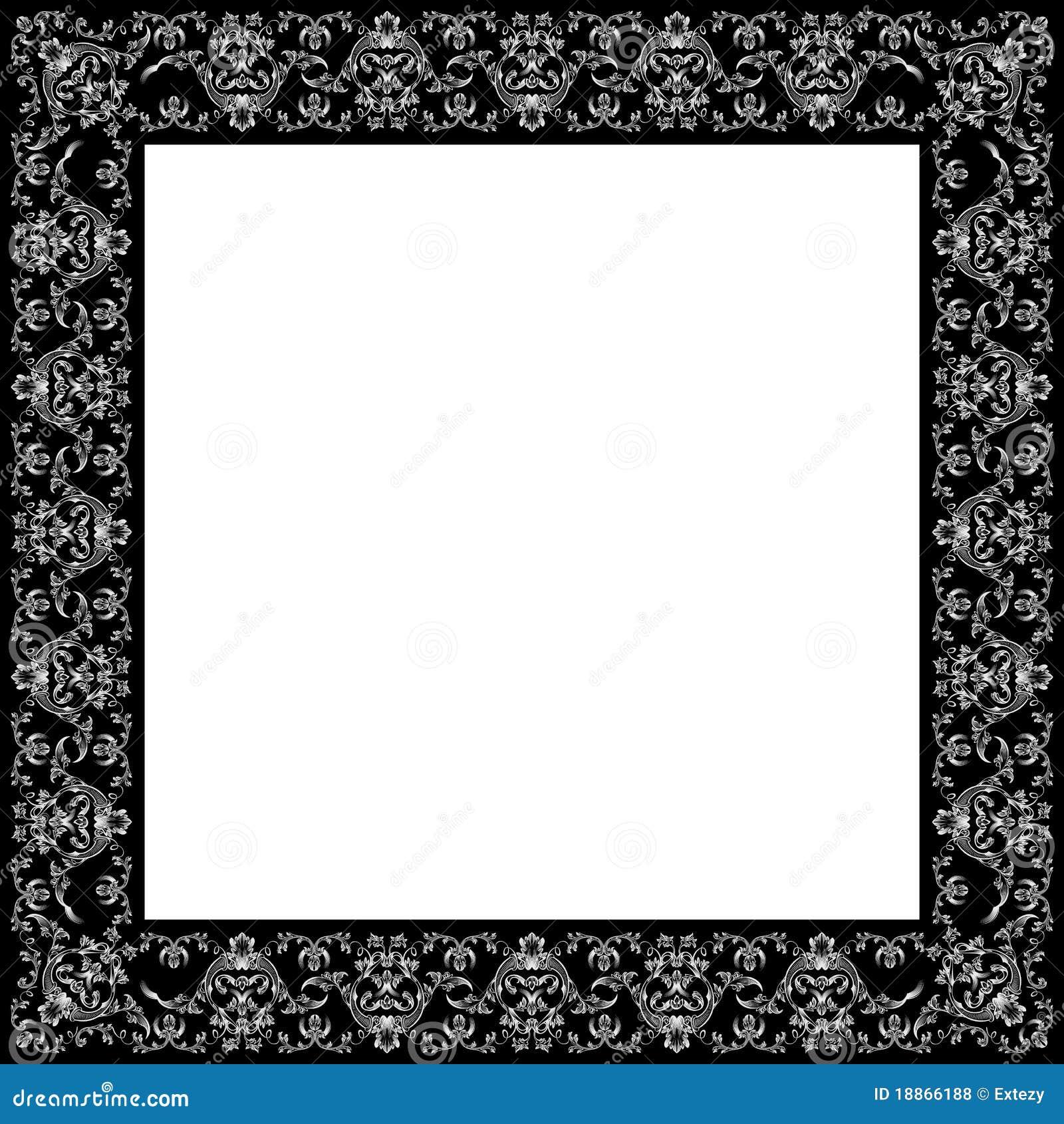 antique black frame. Vector Vintage Royal Retro Frame Ornament Black Antique