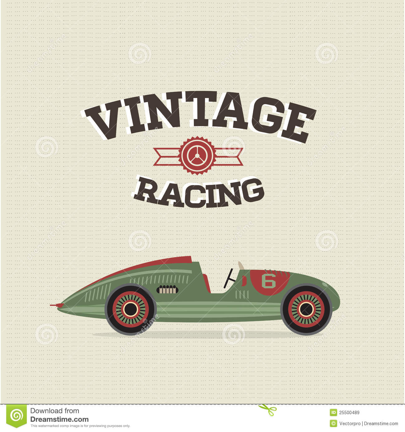 Vector Vintage Sport Racing Cars Stock Vector Illustration Of Printing Movement 25500489