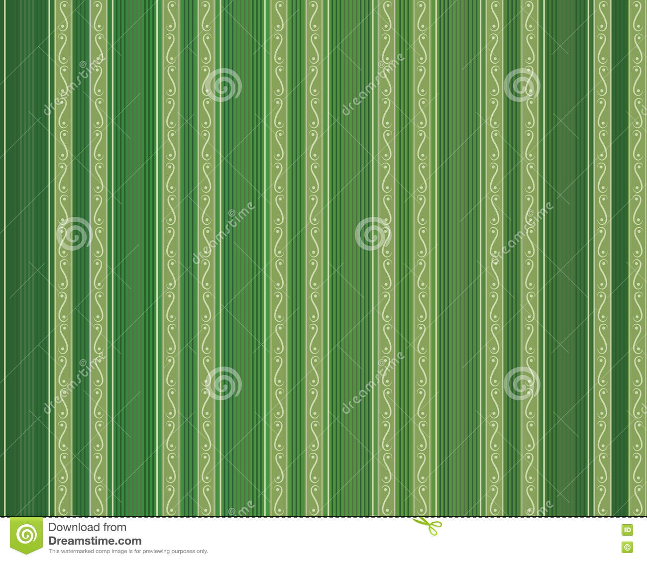 Vector Vintage Stripe Wallpaper Seamless Pattern