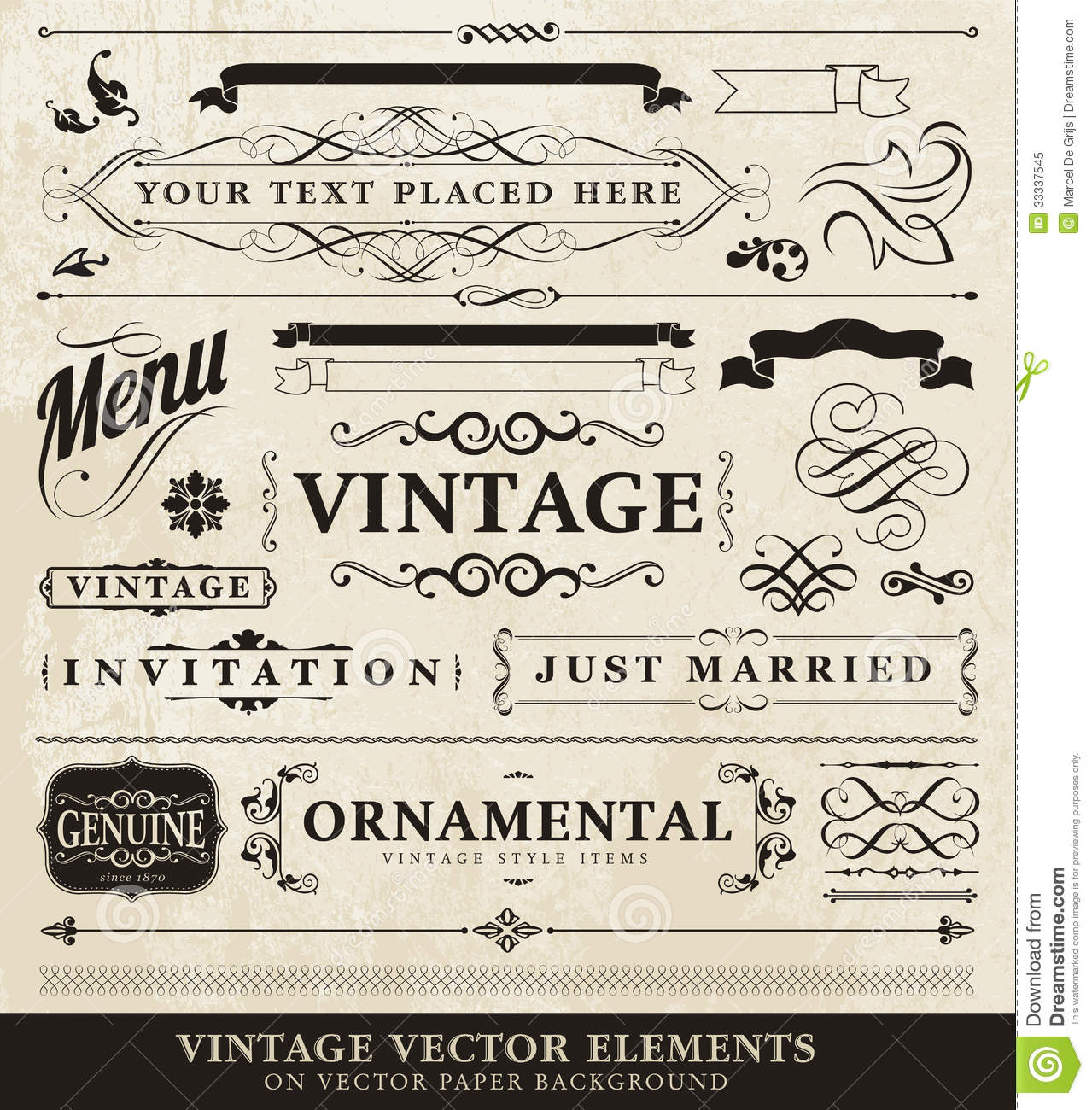 Vector Vintage Style Elements Royalty Free Stock Photo ...