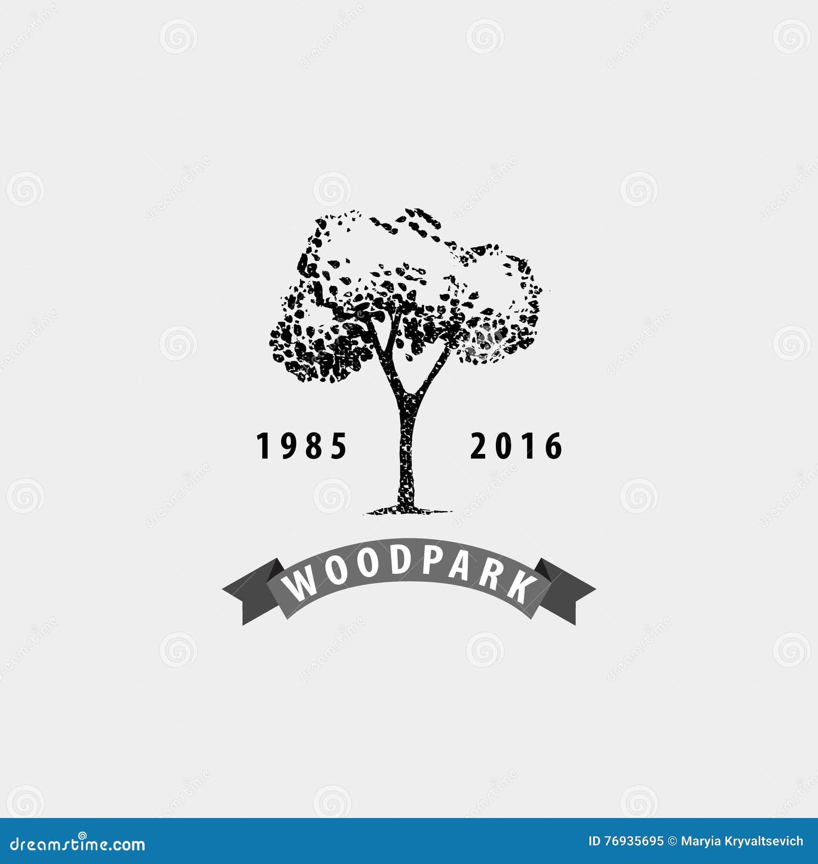 Vector Vintage Tree Logo Eco Print Hipster Emblem Stock Vector Illustration Of Healthy Label 76935695