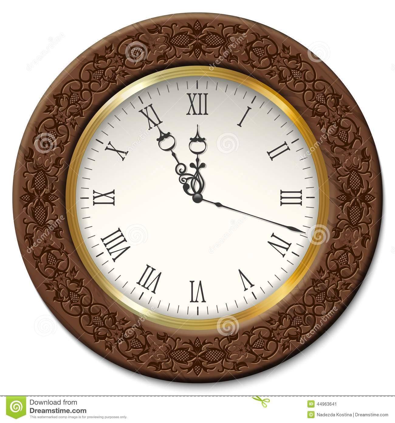royaltyfree vector download vector vintage wall clock